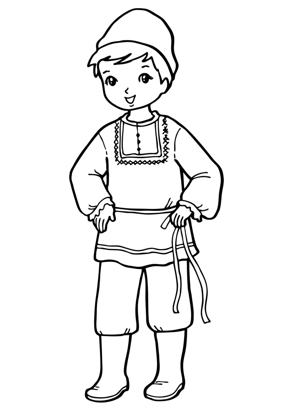 Раскраски куклы мальчики - 7