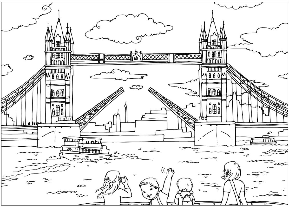 Лондон картинки раскраска