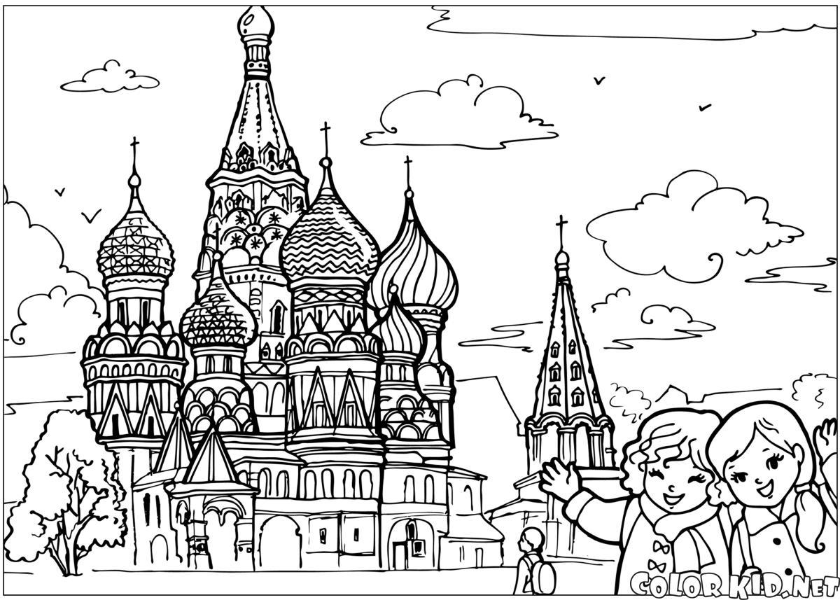 Храм в раскрасках