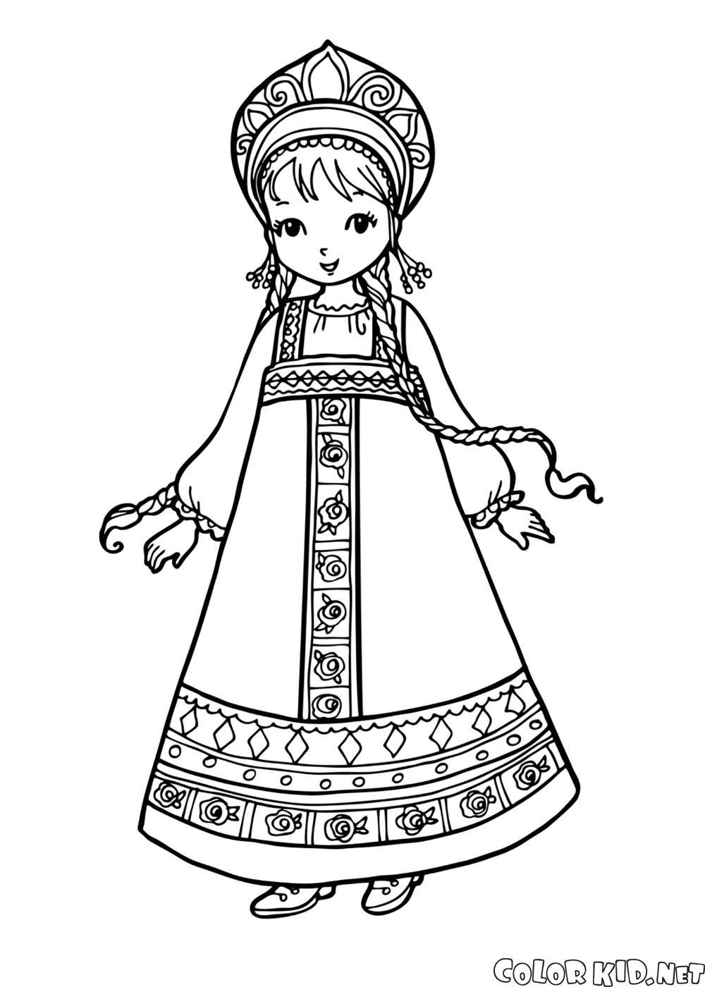 Девочка в национальном костюме