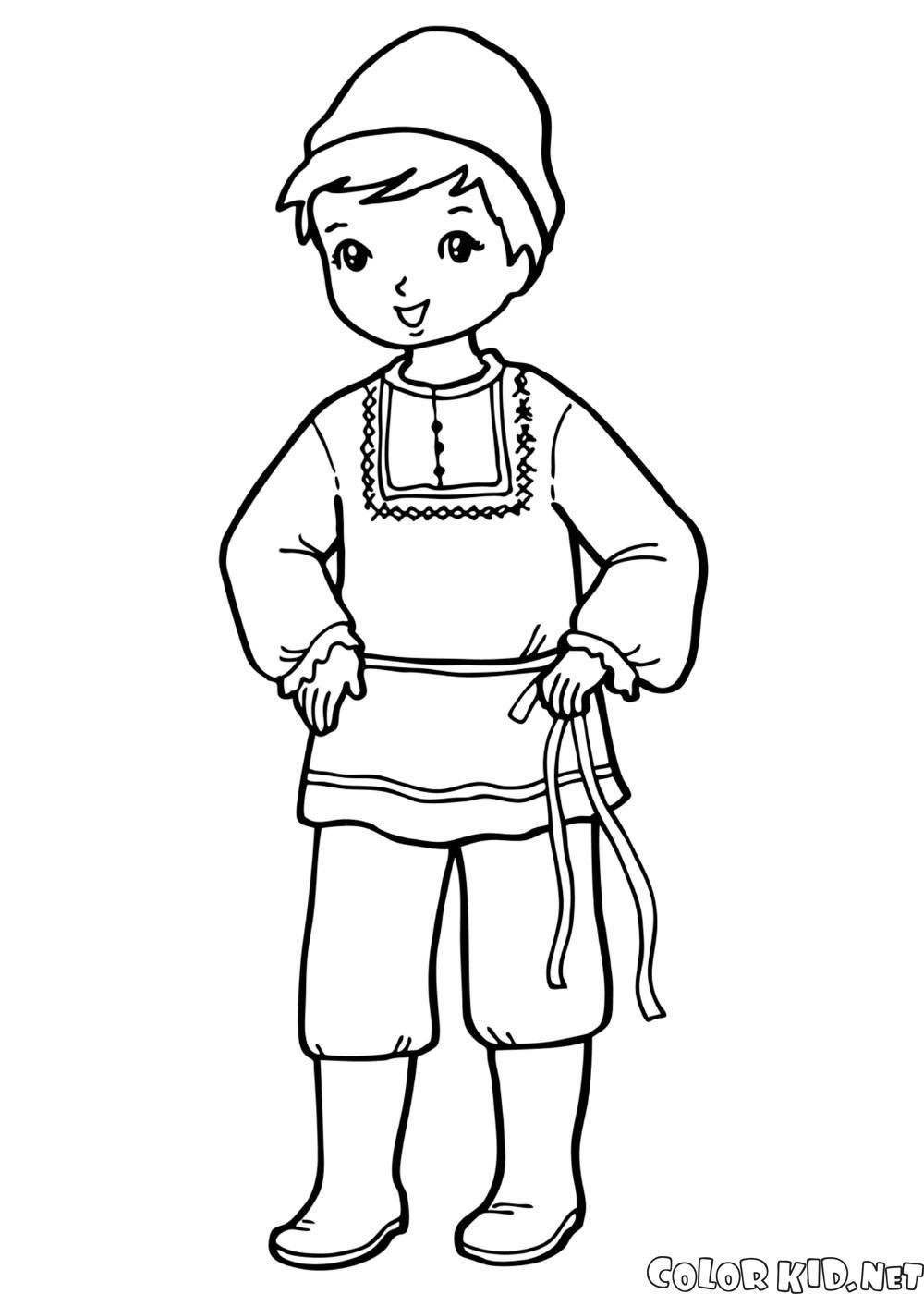 Мальчик в национальном костюме