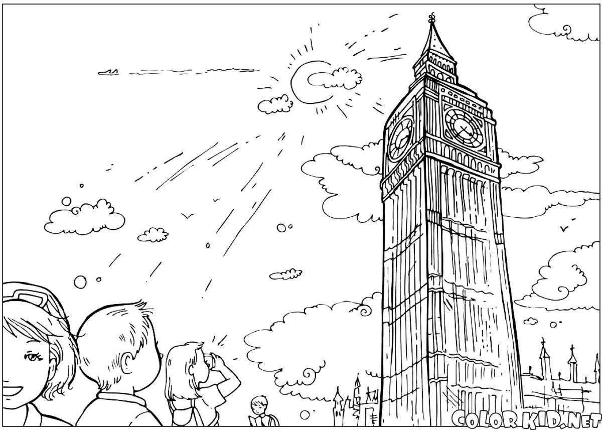 Раскраска новый год в англии
