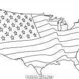 Американский флаг в виде карты